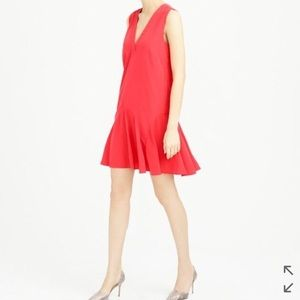 Jcrew Sleeveless Flounce Dress